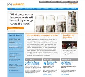 Wesson Energy New Website Design, CT