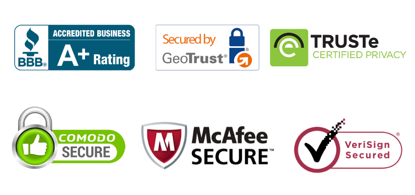 B2B conversion optimization tactic - security badges