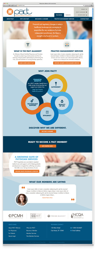 Medical Group Web Design Example