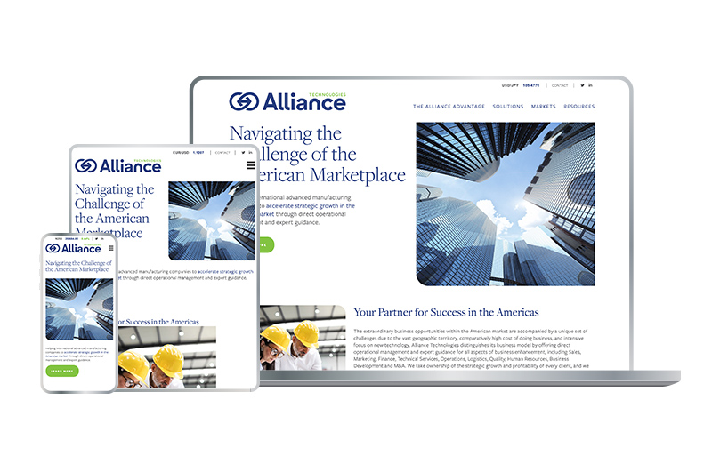 Alliance Technologies Professional Services Website