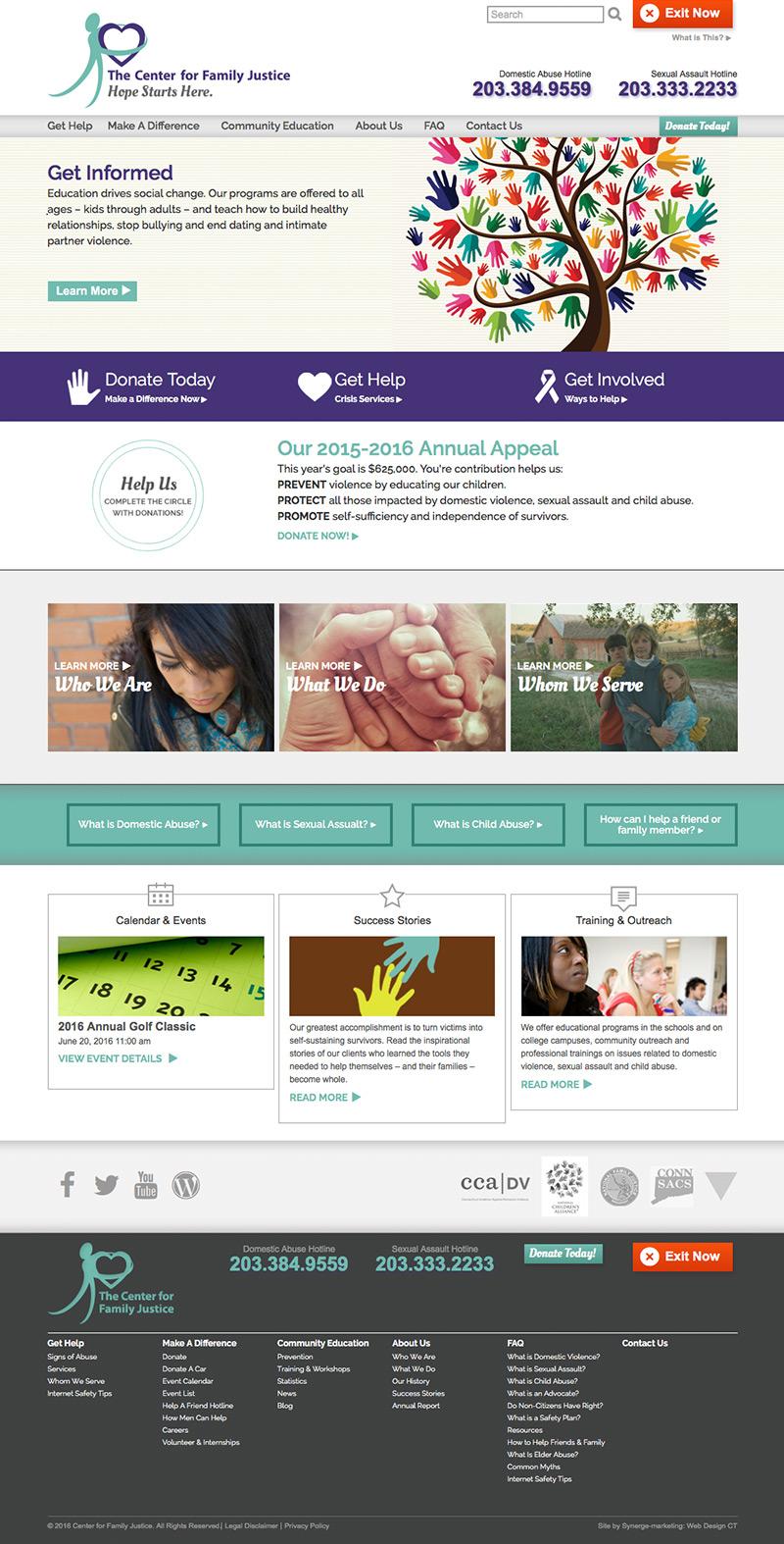 Home Page Web Design Concept - Non-Profit Website