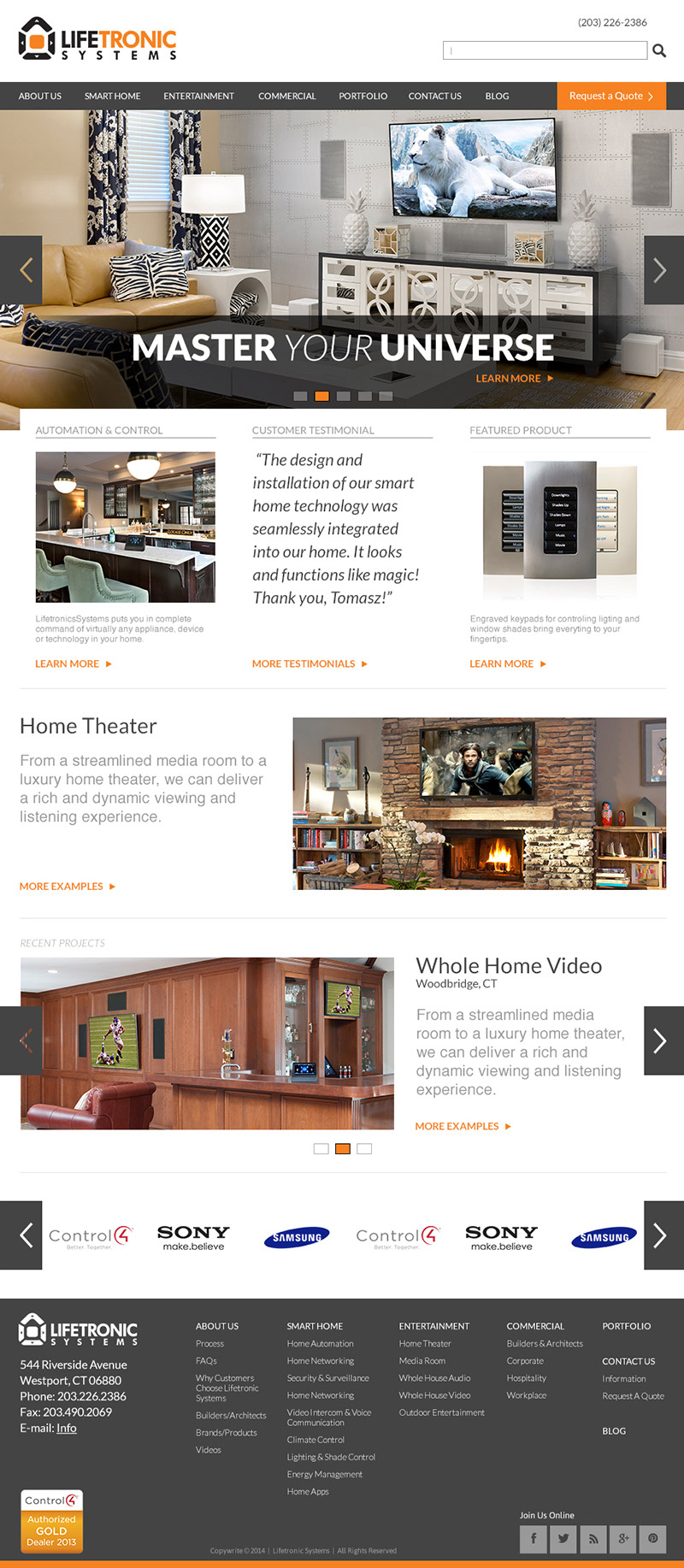 Home Page Design - Smart Technology