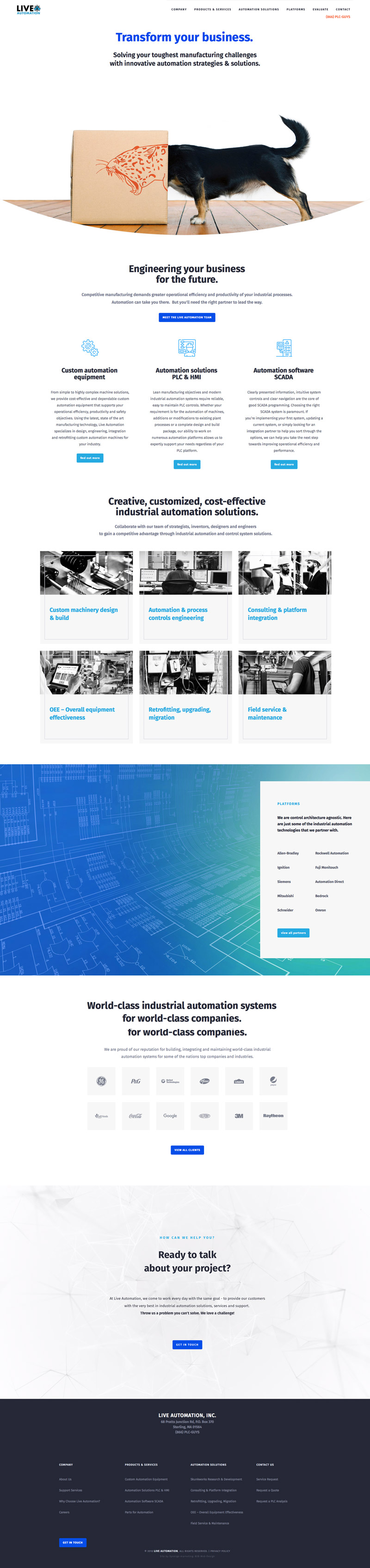 Manufacturing-Technology Website Design