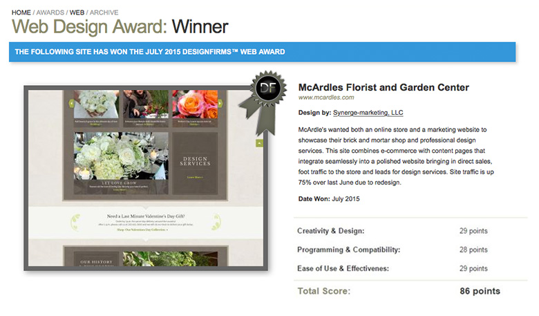 Web Design Award Winner