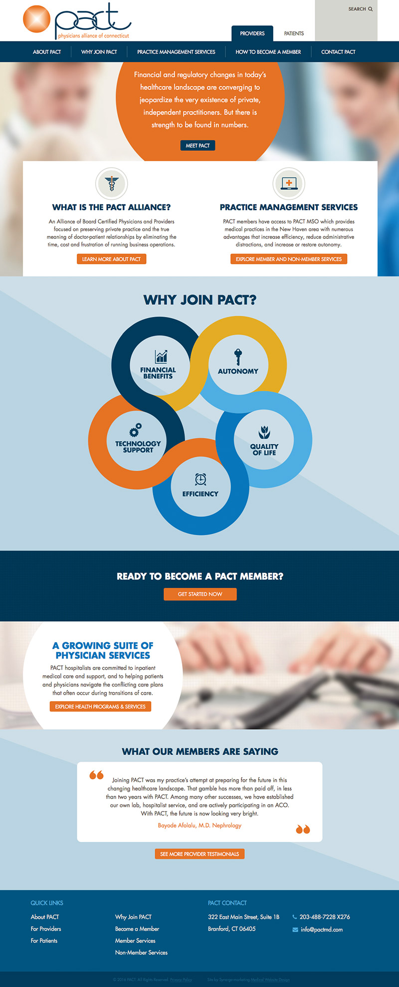 Home Page Design - PACT Medical Group