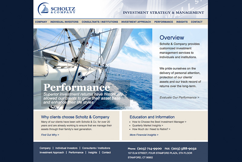 Scholtz Website Design Home Page