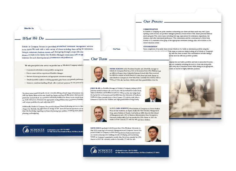 Financial Services - Print Design