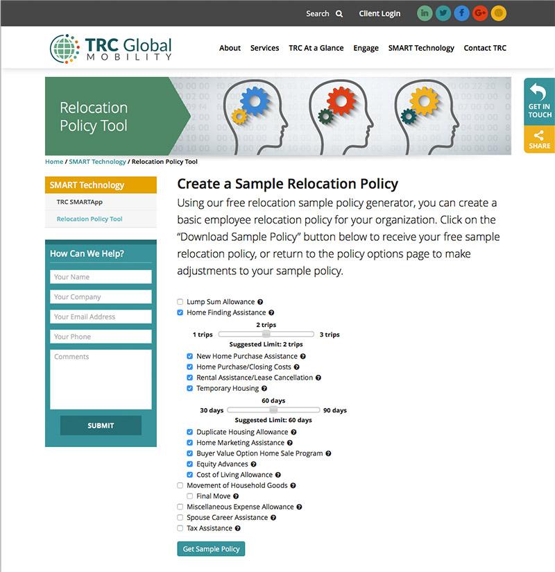 Website Design - Policy Generator Tool