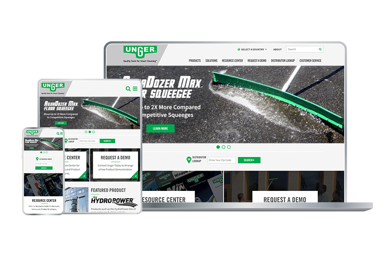 Unger Global Website Responsive Design